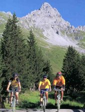 Montain Biking in Meribel, French Alps.