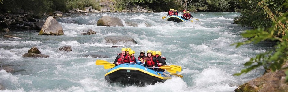White Water Rafting in The Three Valleys, French Alps.