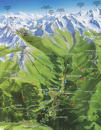 Meribel Valley Map - Summer